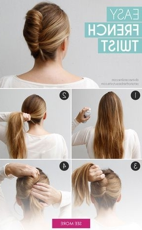 Go Classically Chic With This Easy French Twist | Bh | Pinterest in Sleek Ladylike Ponytail Hairstyles
