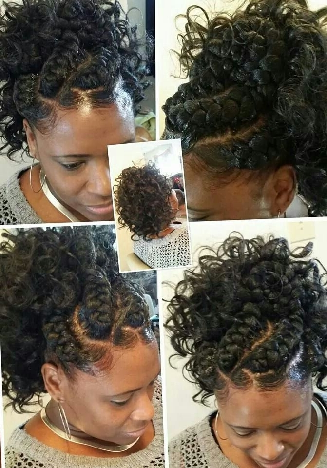 Goddess Braids With Ponytaildarlean Thickyd Green. | Brown Girls In Regal Braided Up Do Ponytail Hairstyles (Gallery 25 of 25)