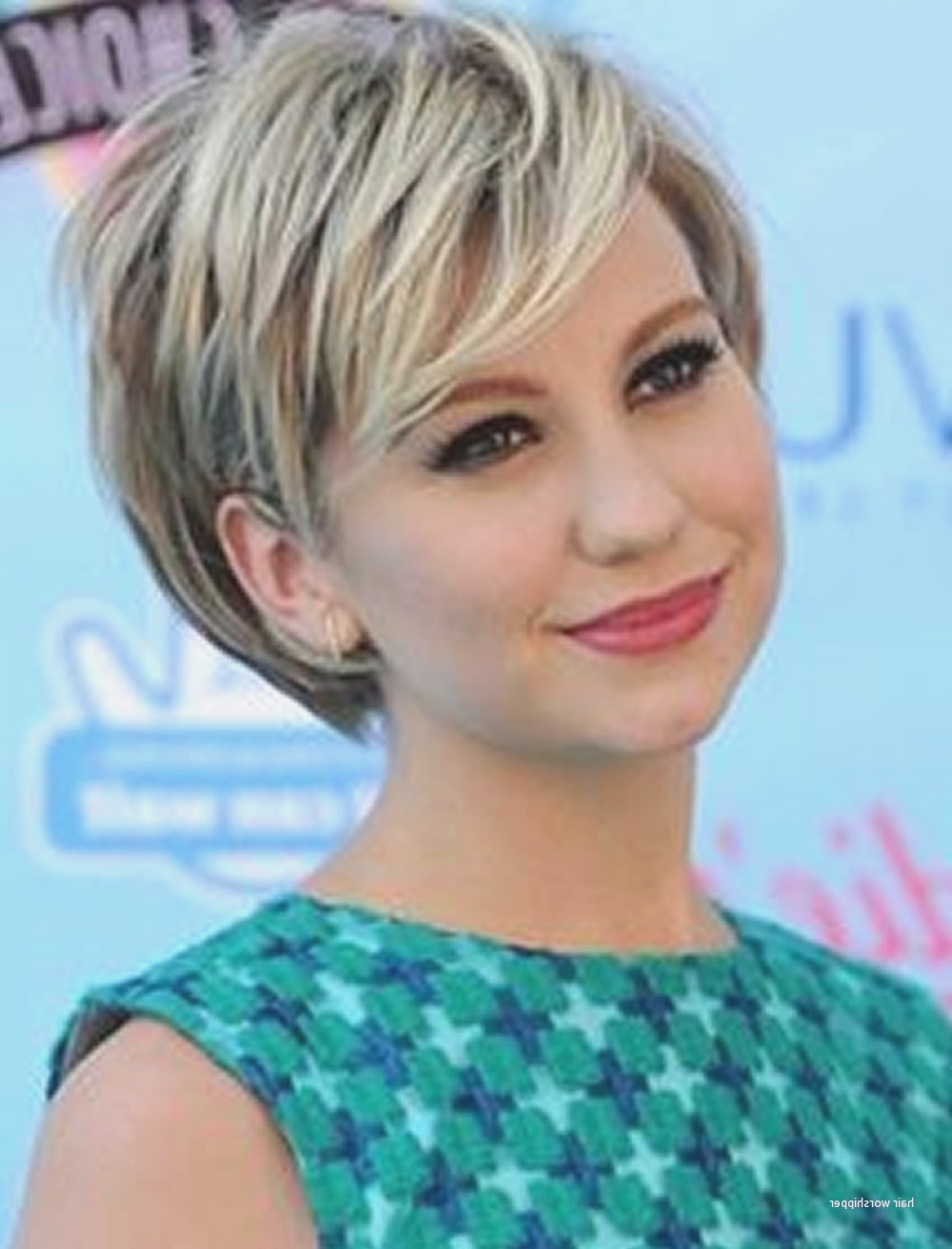 Good Short Haircuts For Round Faces And Thick Hair Inspirational Throughout Pictures Of Short Hairstyles For Round Faces (View 25 of 25)