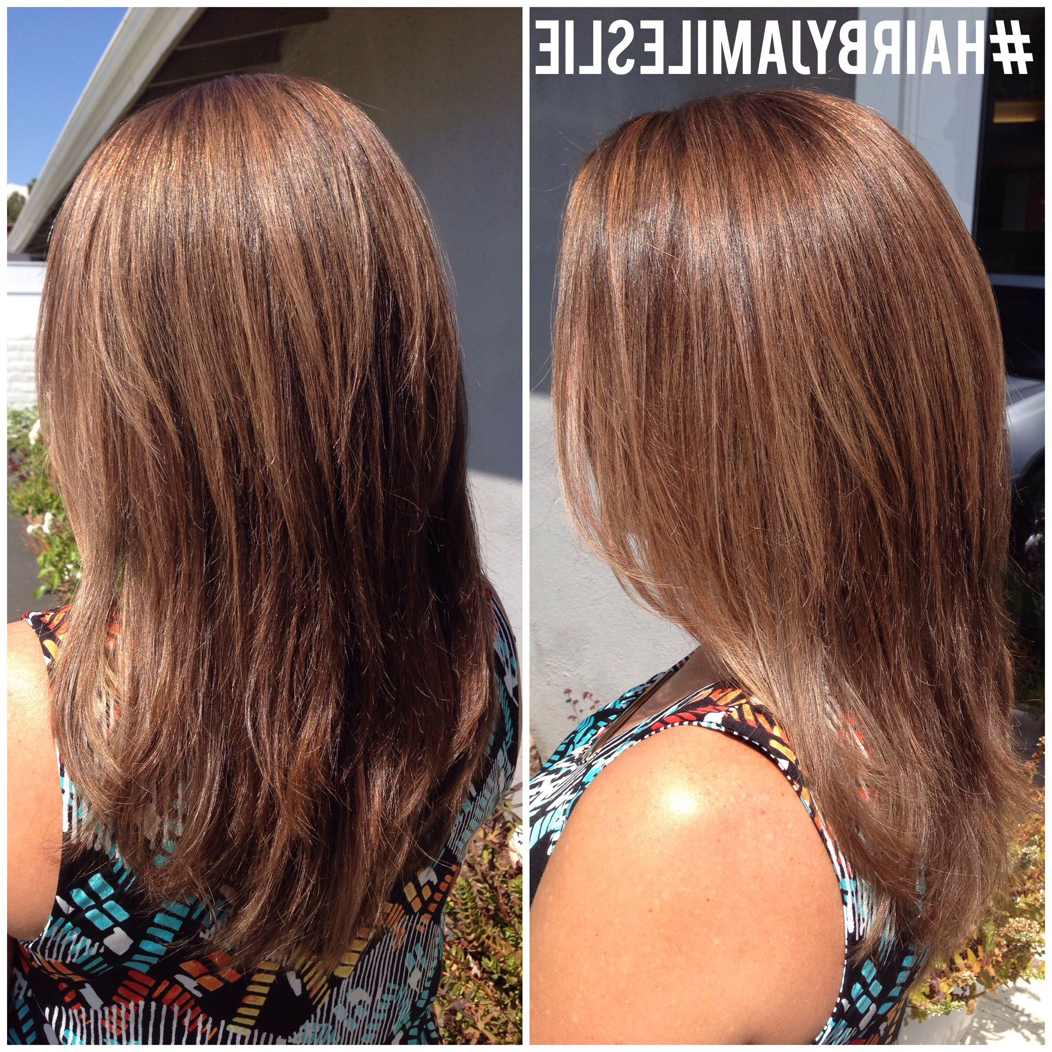 Gorgeous Copper Gold Highlights And V Shaped Haircut With Short Pertaining To V Shaped Layered Short Haircuts (View 3 of 25)