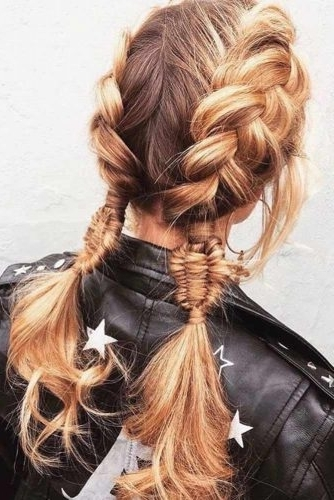 Gorgeous Ideas Of Dutch Braid Hairstyles 2018 – My Stylish Zoo For Blonde Ponytails With Double Braid (Gallery 17 of 25)