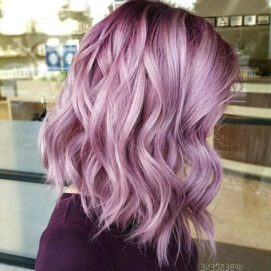 Gorgeous Pinky Purple Lilac Lavender Hair | Best Hair Styles, Color Inside Choppy Brown And Lavender Bob Hairstyles (Gallery 20 of 25)