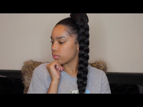 Graceful Hair Makeover: Jumbo Ponytail Within Multicolored Jumbo Braid Ponytail Hairstyles (Gallery 25 of 25)