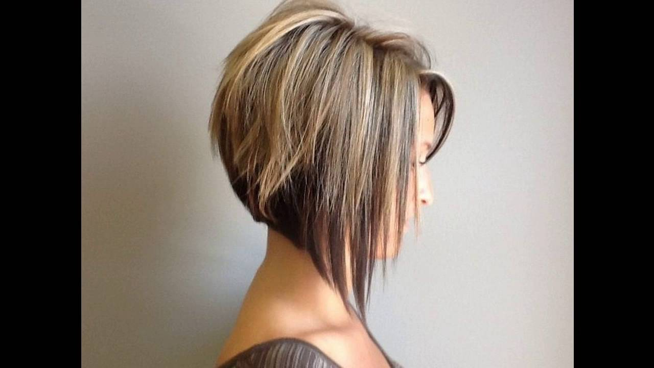 Graduated Bob Hairstyle Is Sexy For Round Faces Short Hair – Youtube Regarding Short Haircuts Bobs For Round Faces (Gallery 10 of 25)