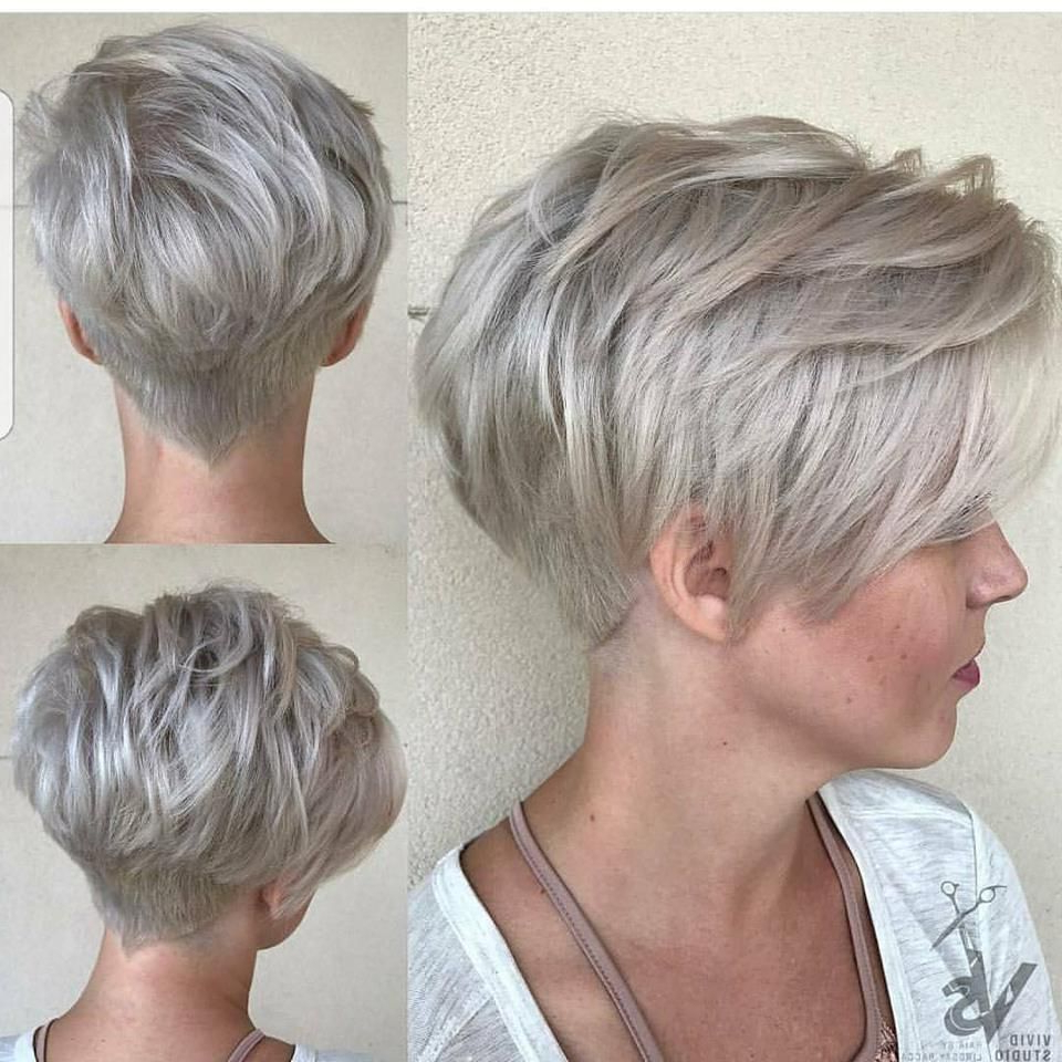 Granny Gray Pixie | Short Haircuts | Pinterest | Pixies, Gray And Throughout Gray Short Hairstyles (Gallery 19 of 25)