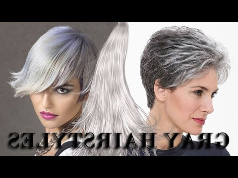Gray Hair Colors And Hairstyles For 2019 | Short, Medium Or Long With Regard To Short Gray Shag Hairstyles (Gallery 23 of 25)