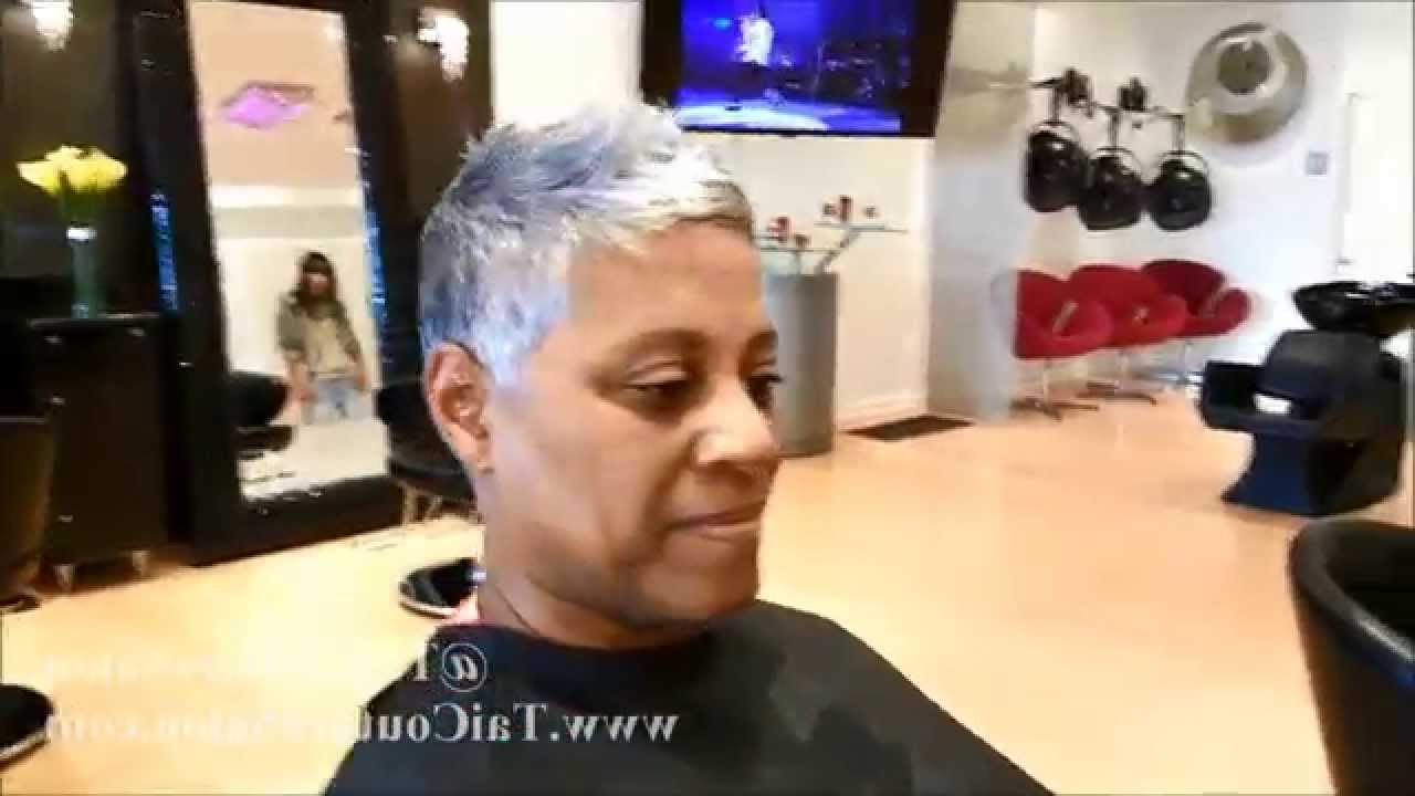 Gray Hair | Pixie Cut | Haircut | Short Hair - Youtube within Short Hairstyles For Black Women With Gray Hair