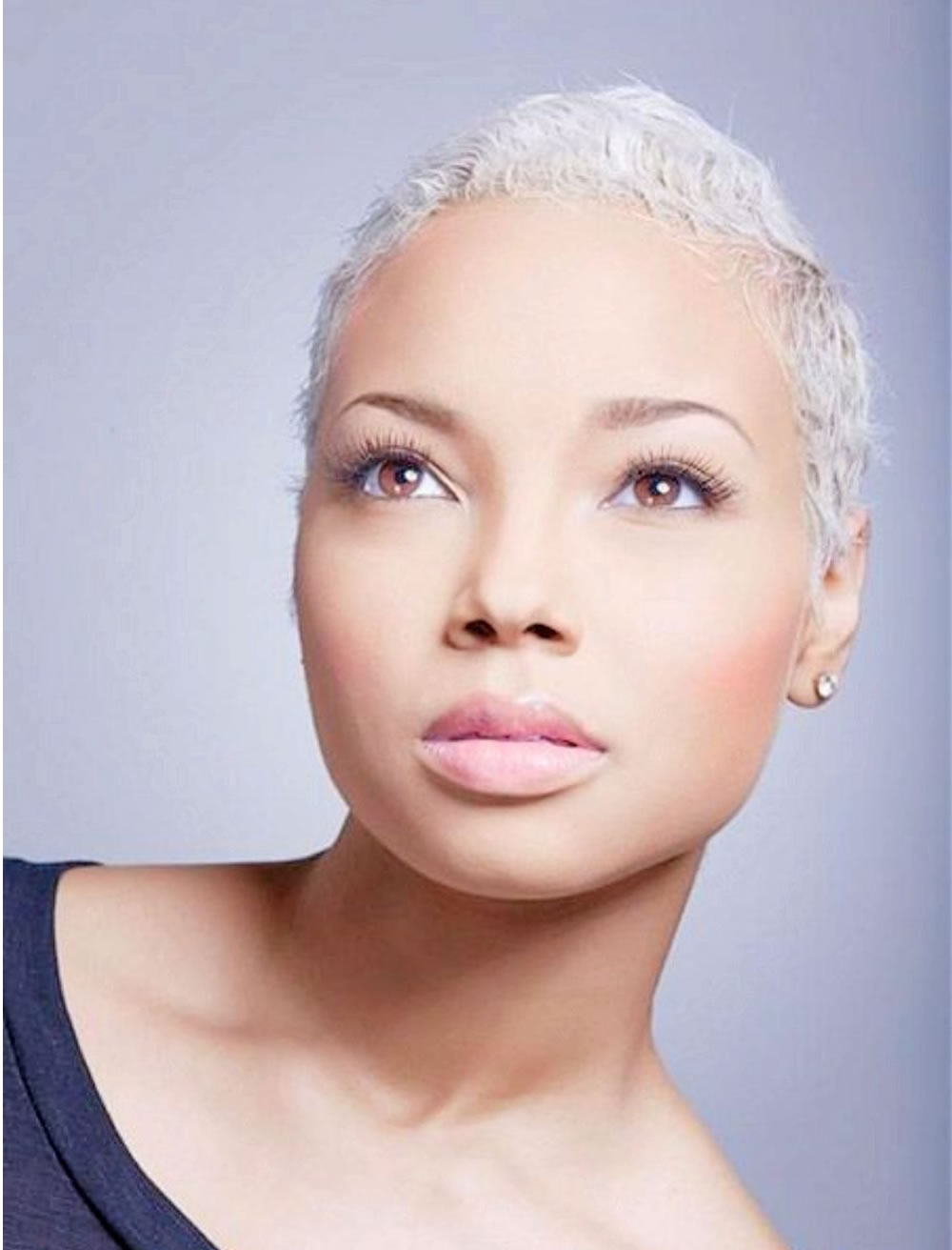 Grey Hair Color Very Short Pixie Haircut For Black Women 2017 Intended For Short Hairstyles For Black Women With Gray Hair (Gallery 12 of 25)