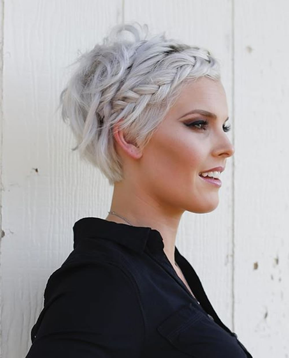 Grey Pixie Hair Cut & Gray Hair Colors For Short Hair – Page 6 inside Short Haircuts For Women With Grey Hair