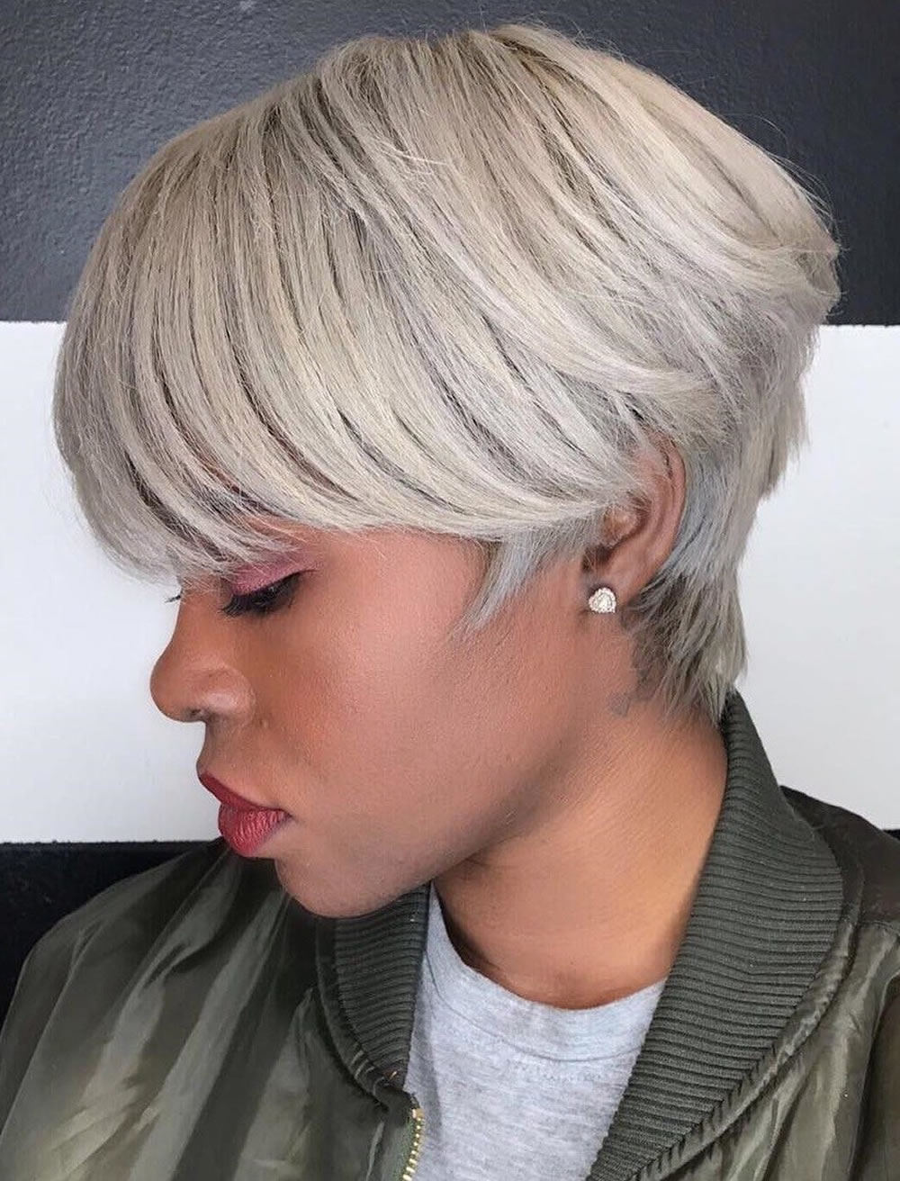 Grey Short Haircuts For African American Black Women – Hairstyles With Regard To Short Hairstyles For Black Women With Gray Hair (Gallery 18 of 25)