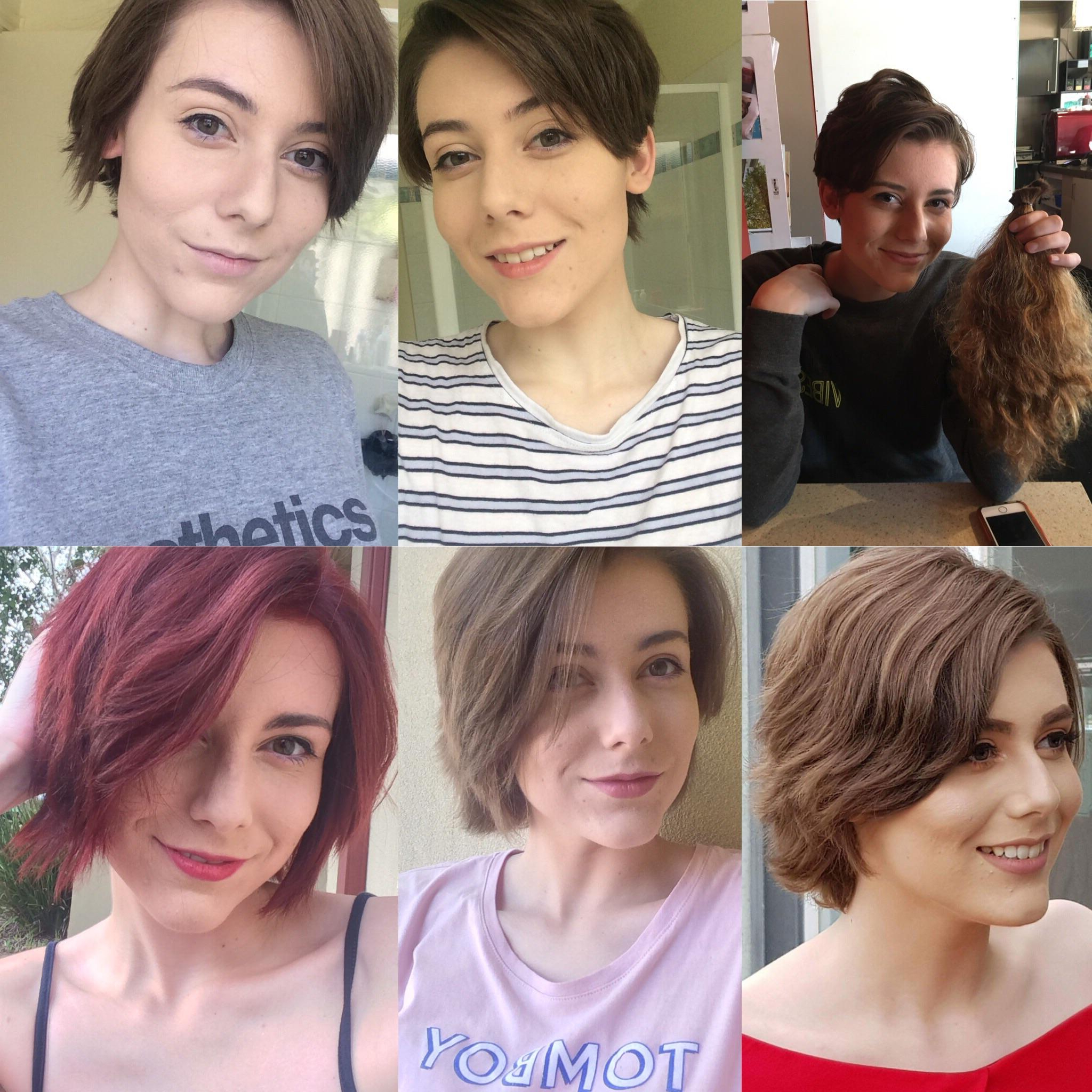 Growing Out My Pixie Cut – One Year Of Progress :) : Hair Throughout Short Hairstyles For Growing Out A Pixie Cut (Gallery 15 of 25)