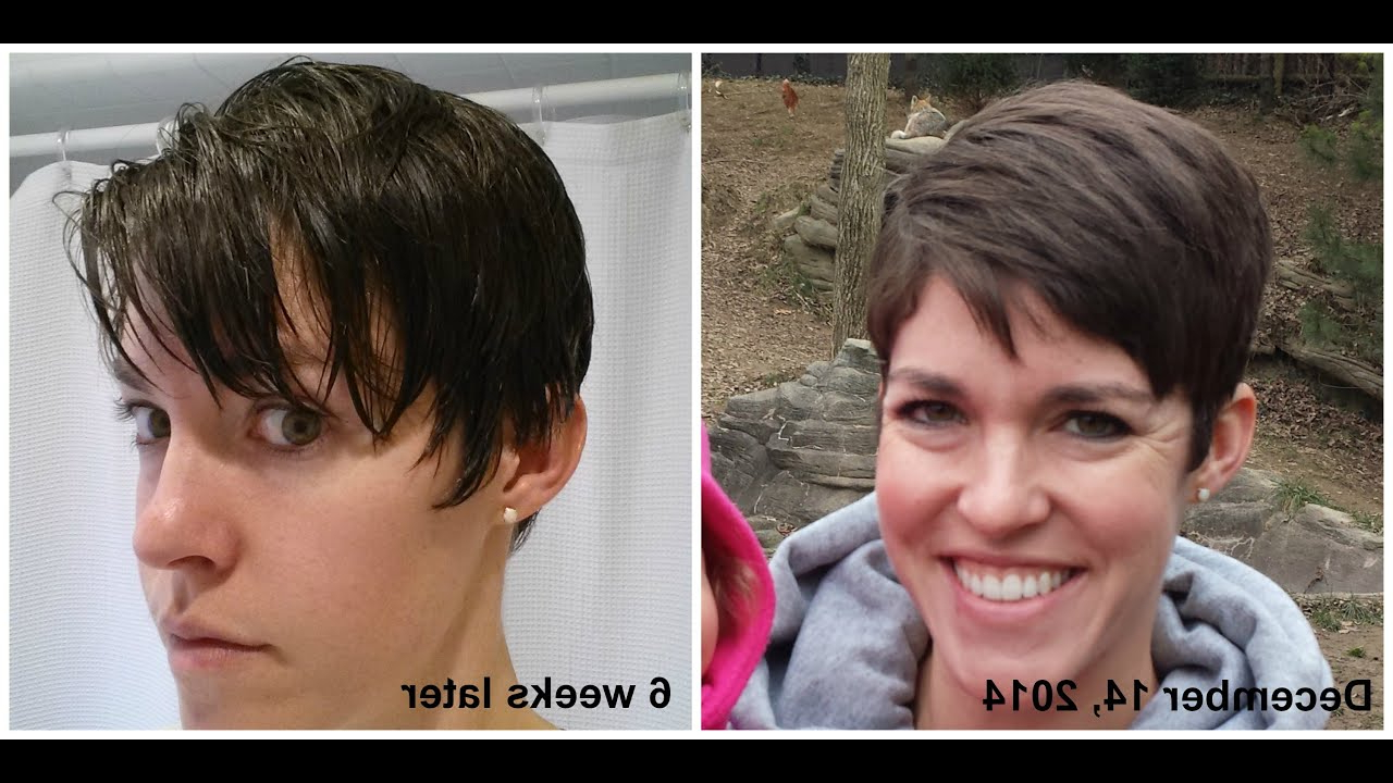 Growing Out Pixie Haircut Month 4 - Youtube within Short Hairstyles For Growing Out A Pixie Cut