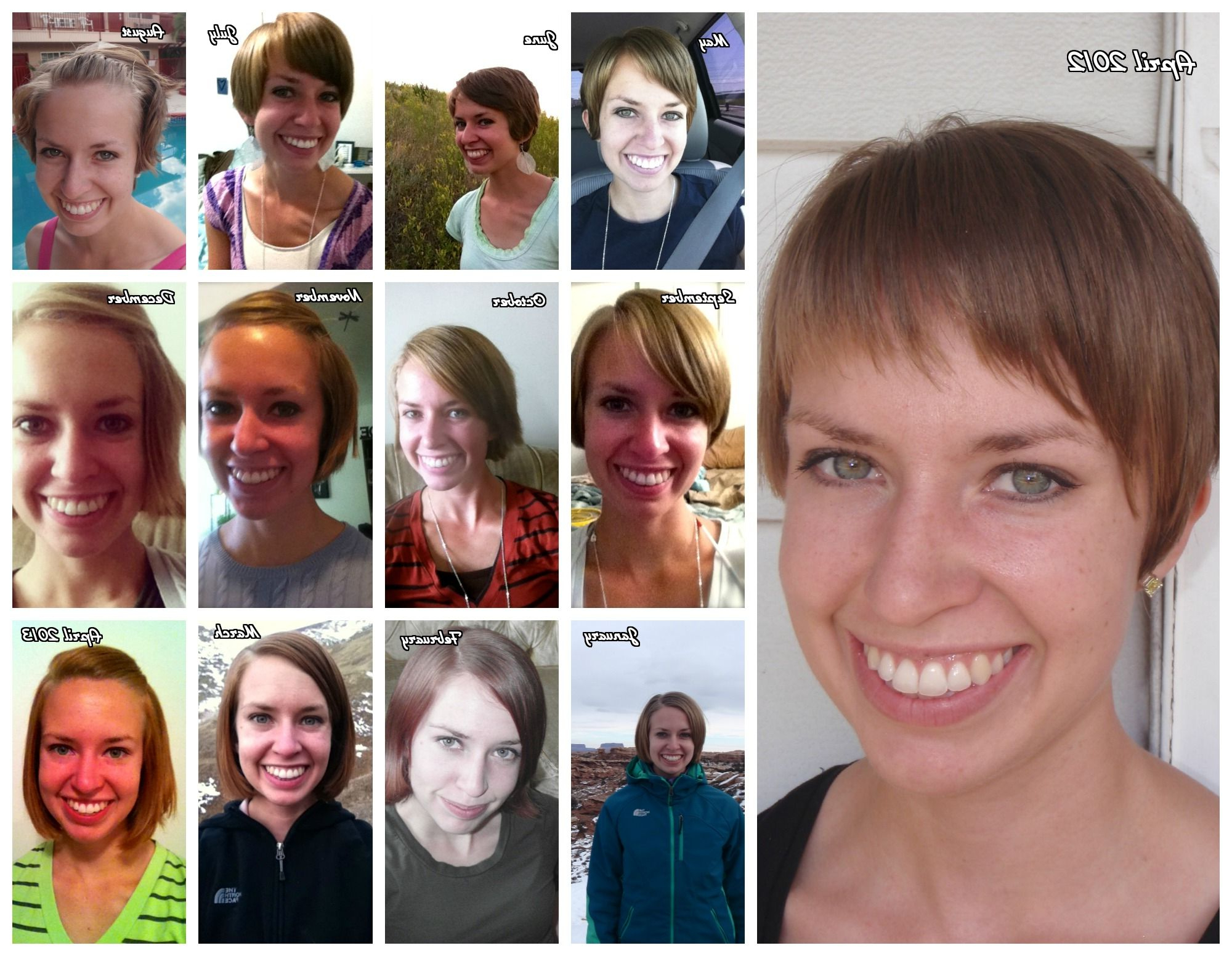 Growing Out Pixie Haircut Timeline | Hairtastic In 2018 | Pinterest Regarding Short Hairstyles For Growing Out A Pixie Cut (Gallery 8 of 25)