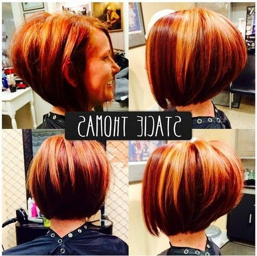 Hair Color Trends 2017/ 2018 – Highlights : Stacked Bob Haircut Regarding Stacked Bob Hairstyles With Highlights (View 25 of 25)