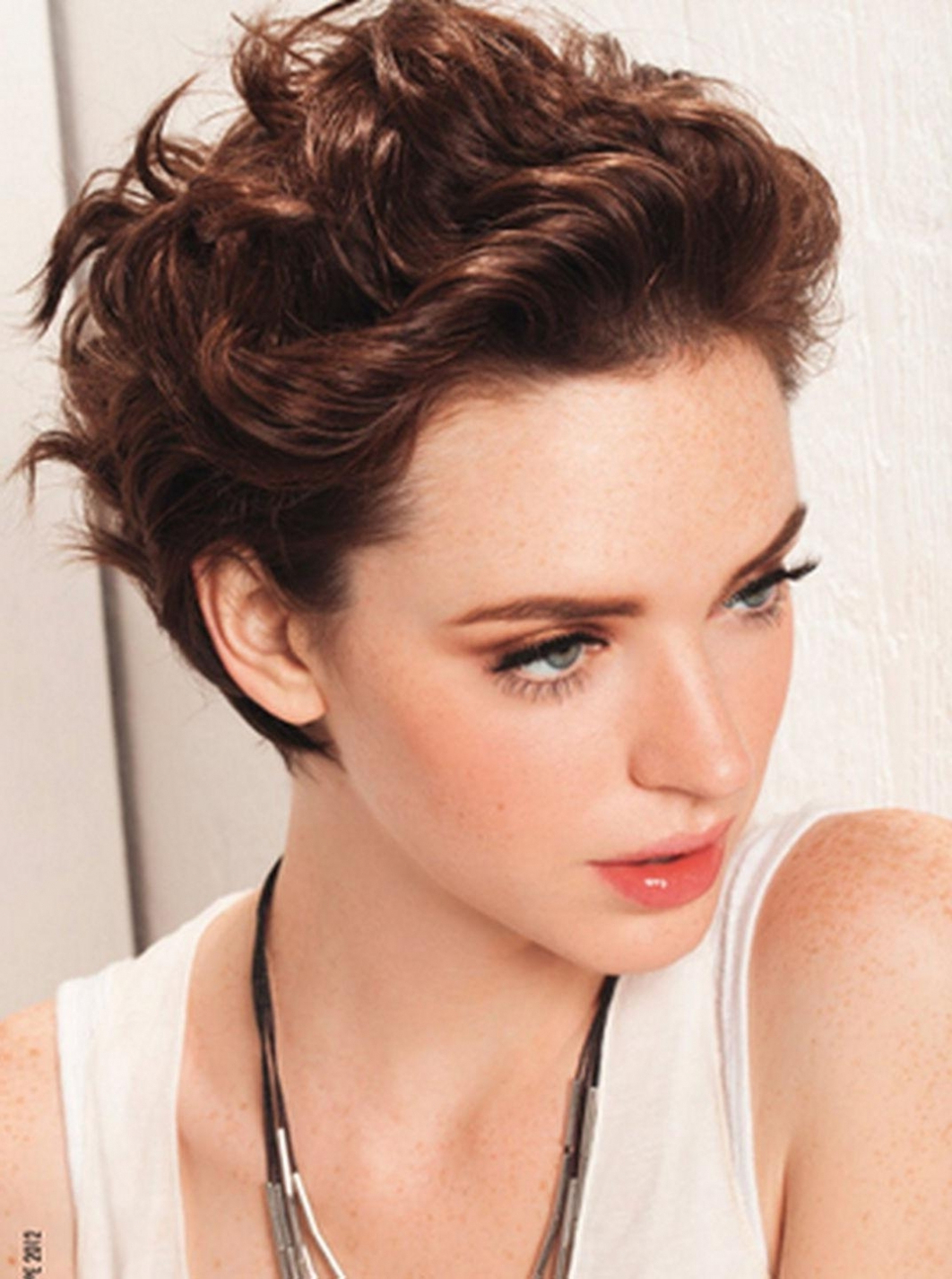 Hair Cuts : Winsome Short Haircuts For Thick Wavy Hair Over With Regard To Short Haircuts For Wavy Hair And Round Faces (View 8 of 25)
