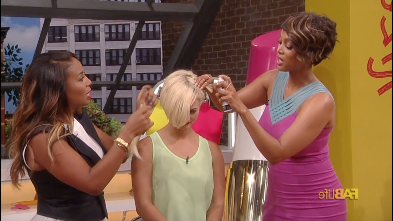 Hair Hacks For Short Hair With Tyra Banks And Kiyah Wright – Youtube Inside Tyra Banks Short Hairstyles (View 7 of 25)