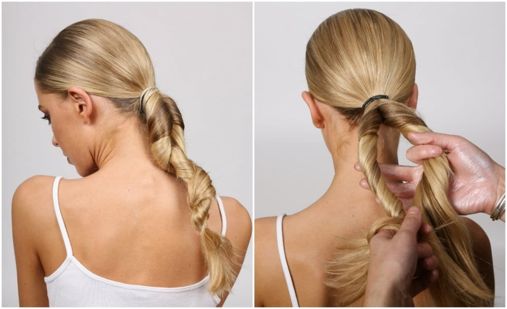 Hair How To Sleek Twisted Ponytail | Party Hair Inspiration With Regard To Tangled And Twisted Ponytail Hairstyles (View 10 of 25)