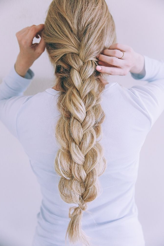 Hair How To: Textured Double Braid | Primp | Pinterest | Braids Within Blonde Ponytails With Double Braid (View 8 of 25)
