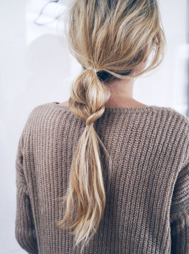 Hair Inspiration: Half + Half Braided Ponytail (Le Fashion Throughout Blonde Braided And Twisted Ponytails (View 3 of 25)