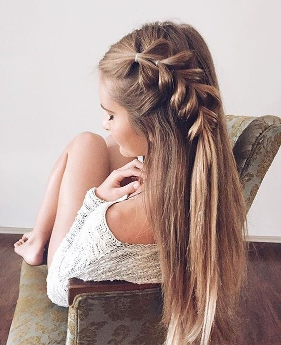 Hair Style | Donalovehair With Regard To Flowy Side Braid Ponytail Hairstyles (View 8 of 25)