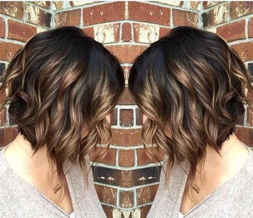 Hair Styles Ideas : Ombre, Curly Bob Haircut – Beloved Brunette Bob Throughout Brunette Bob Haircuts With Curled Ends (View 9 of 25)