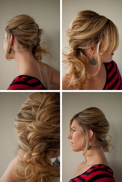 Hair Tutorial: How To Do A Messy Side Ponytail – Hairstyles Weekly Within Twisted And Pinned Blonde Ponytails (View 13 of 25)