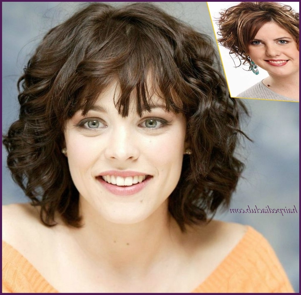 Haircut For Round Face Girl With Wavy Hair – Wavy Haircut Pertaining To Short Hairstyles For Round Faces Curly Hair (View 4 of 25)