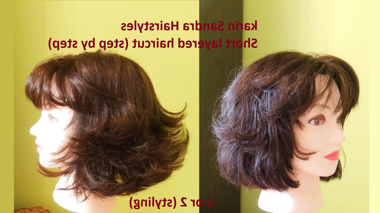 Haircut Tutorial : Short Layered Bob Haircut With Bangs For Women Y Inside Short Haircuts With Bangs And Layers (View 24 of 25)