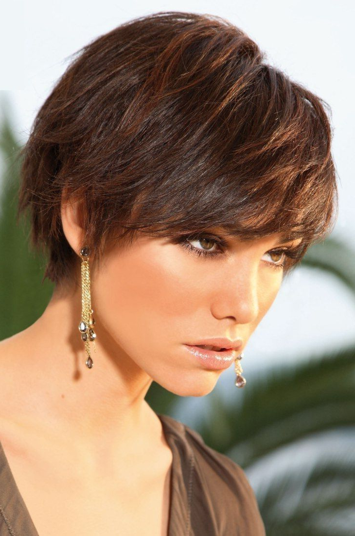 Haircuts Trends 2017/ 2018 – Casual Wispy Short Brunette Hairstyle Intended For Wispy Short Haircuts (View 7 of 25)