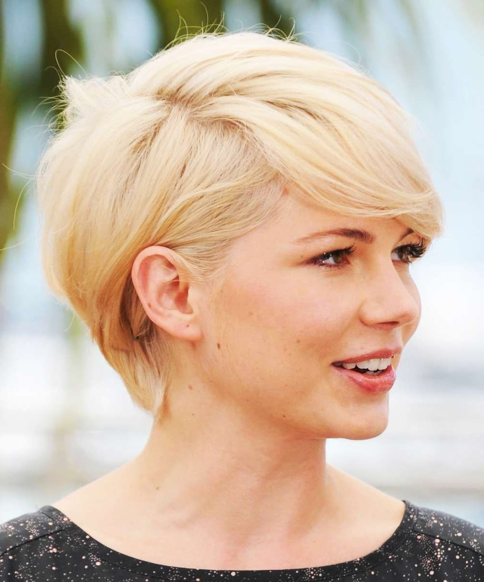 Haircuts Women Over Fifty With Thick Hair Round Face Short Pertaining To Pictures Of Short Hairstyles For Round Faces (View 21 of 25)