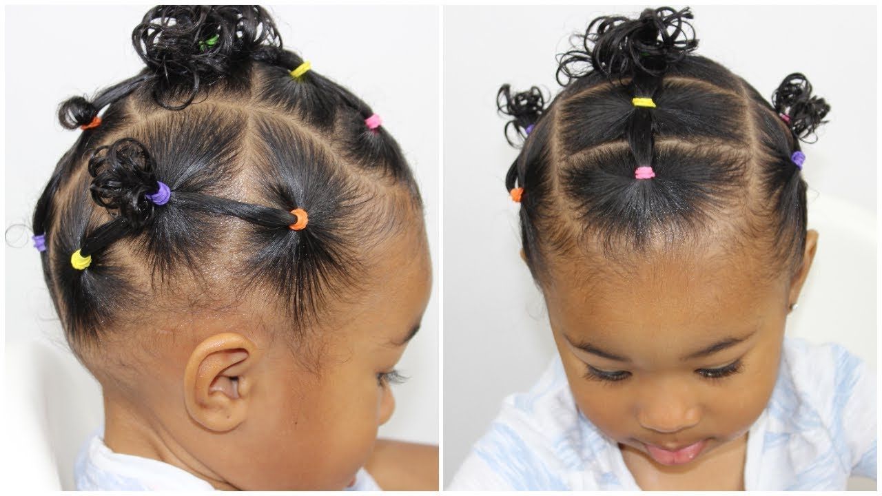 Hairstyle For Toddlers With Short Hair | Maya And Sky Hair In 2018 With Regard To Black Baby Hairstyles For Short Hair (View 2 of 25)