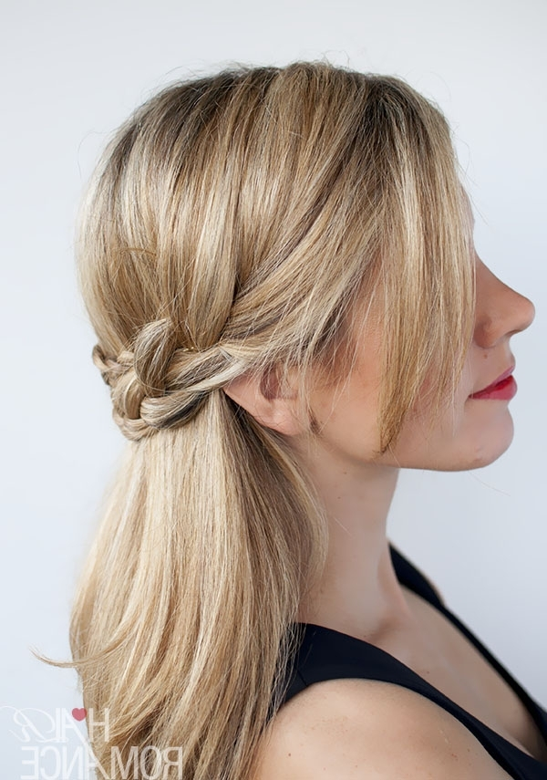 Hairstyle Tutorial – Half Crown Braid – Hair Romance Pertaining To Wavy Side Ponytails With A Crown Braid (View 4 of 25)