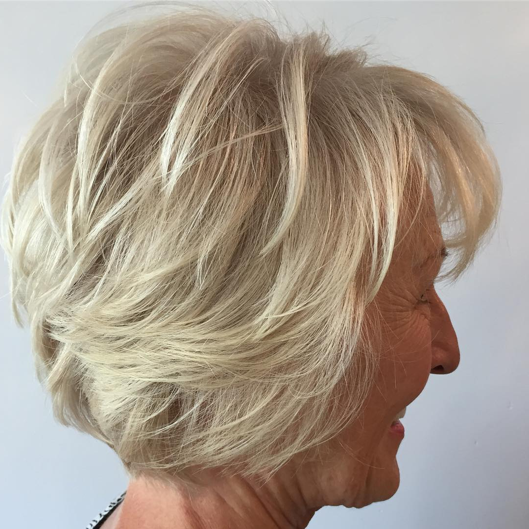 Hairstyles And Haircuts For Older Women In 2018 — Therighthairstyles With Regard To Short Hairstyles Fine Hair Over  (View 9 of 25)