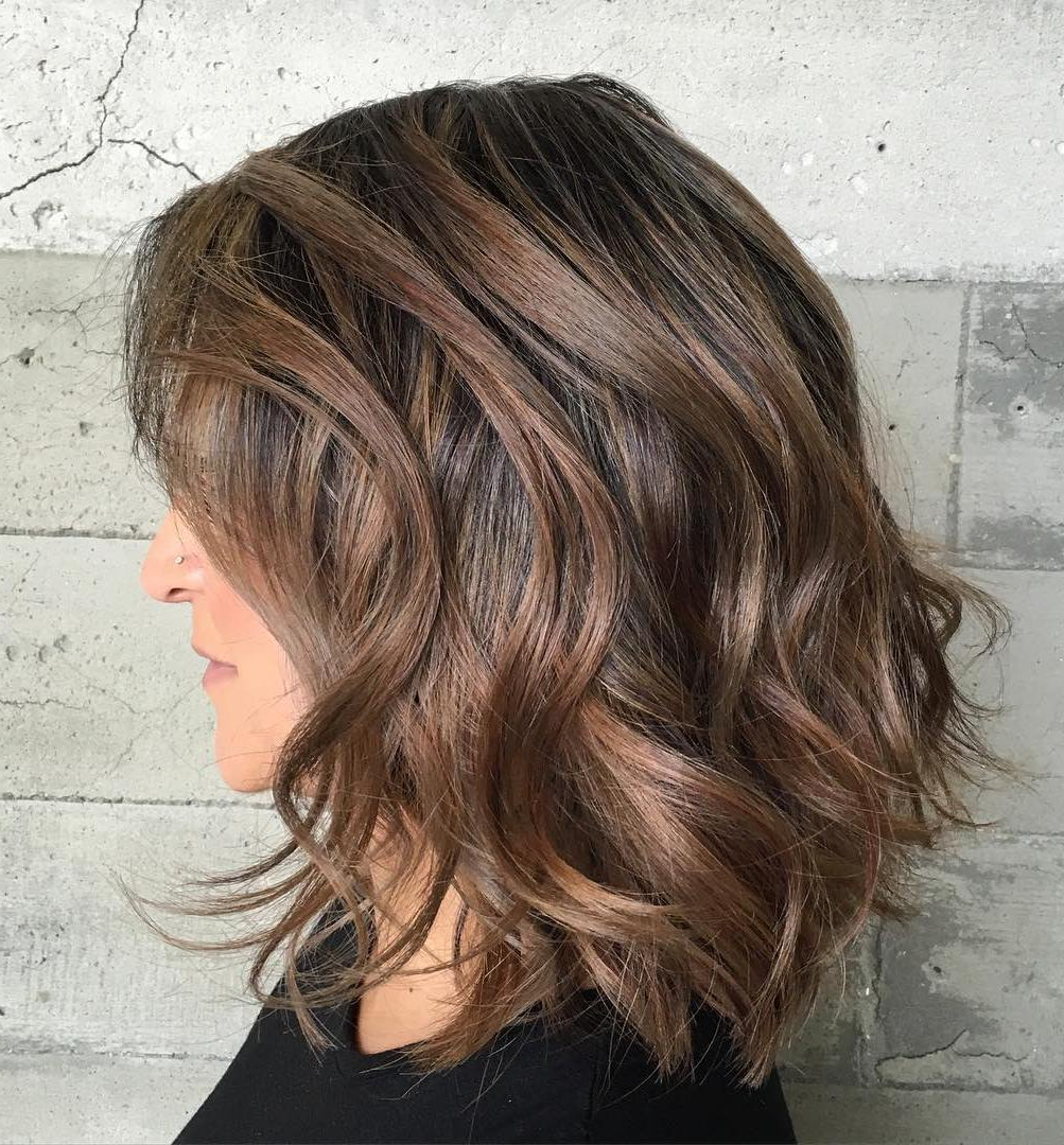 Hairstyles And Haircuts For Thick Hair In 2018 — Therighthairstyles With Regard To Medium Short Haircuts For Thick Wavy Hair (View 2 of 25)
