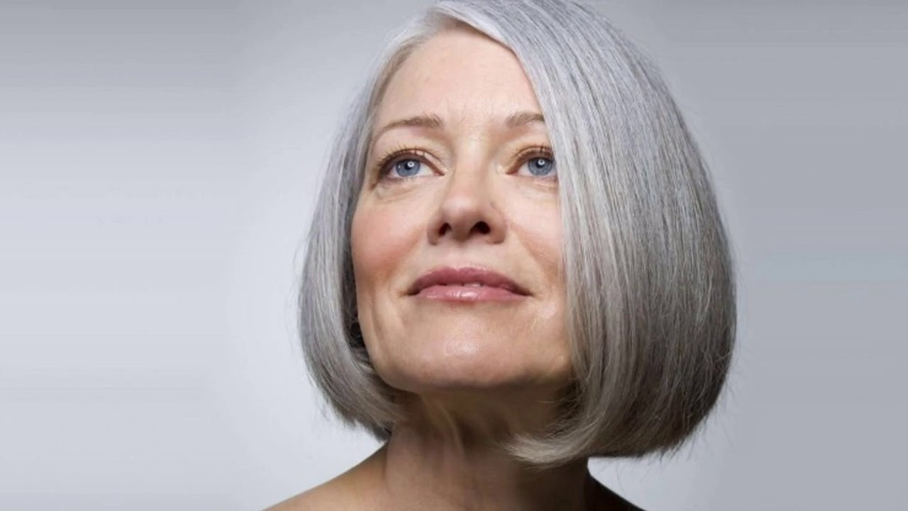 Hairstyles For Grey Hair Over 60 – Youtube For Short Hairstyles For Grey Haired Woman (View 21 of 25)
