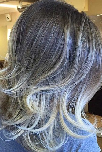 Hairstyles: Medium Length With Swoopy Layers   Hair & Beauty Intended For Silver Balayage Bob Haircuts With Swoopy Layers (View 18 of 25)