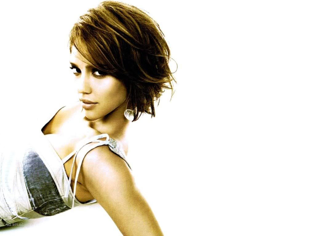 Hairstyles Popular 2012: Celebrity Jessica Alba Short Bob Hairstyle For Jessica Alba Short Hairstyles (View 3 of 25)