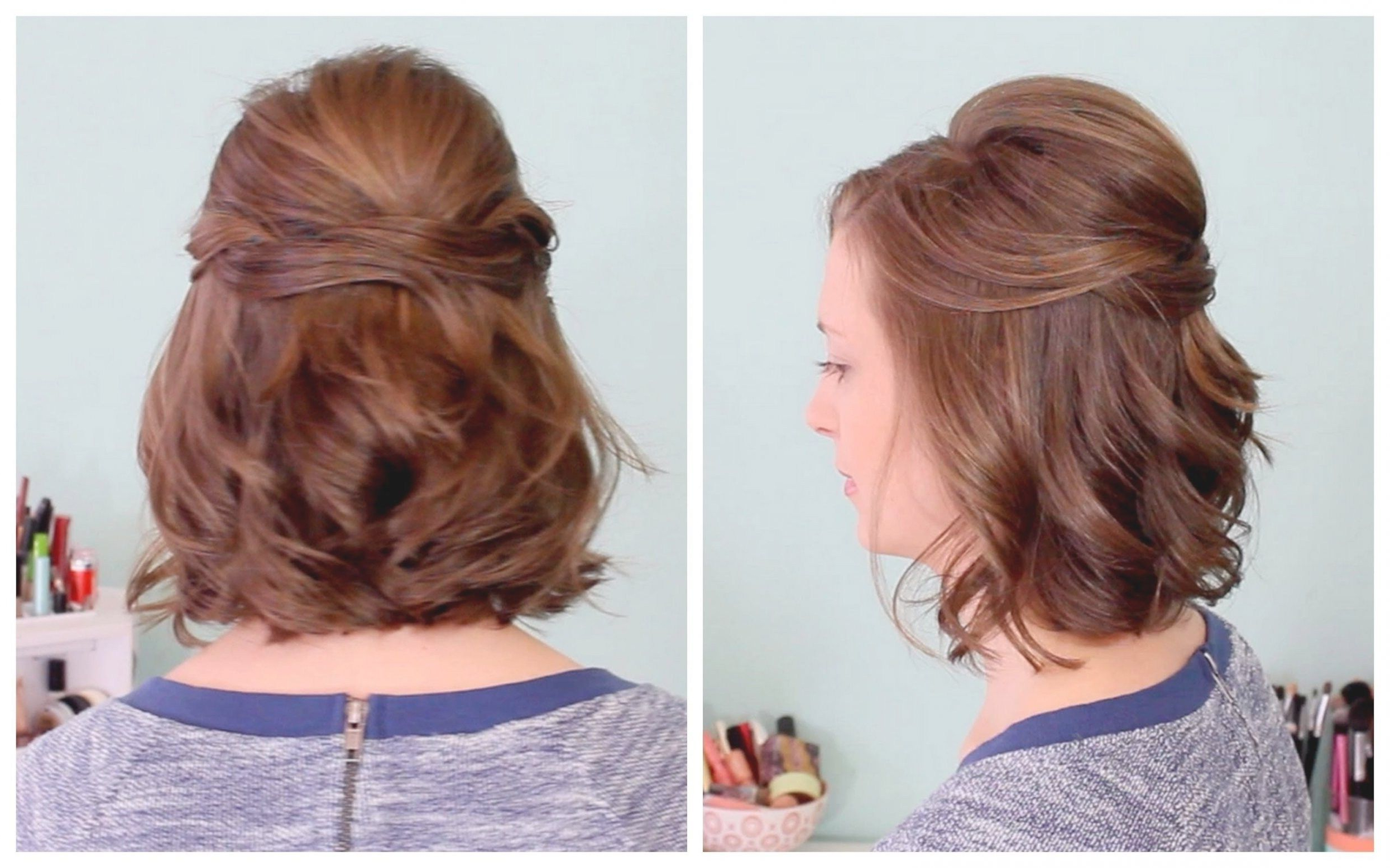 Half Up Half Down Hairstyles For Wedding Guest | Wedding With Hairstyles For Short Hair Wedding Guest (View 10 of 25)
