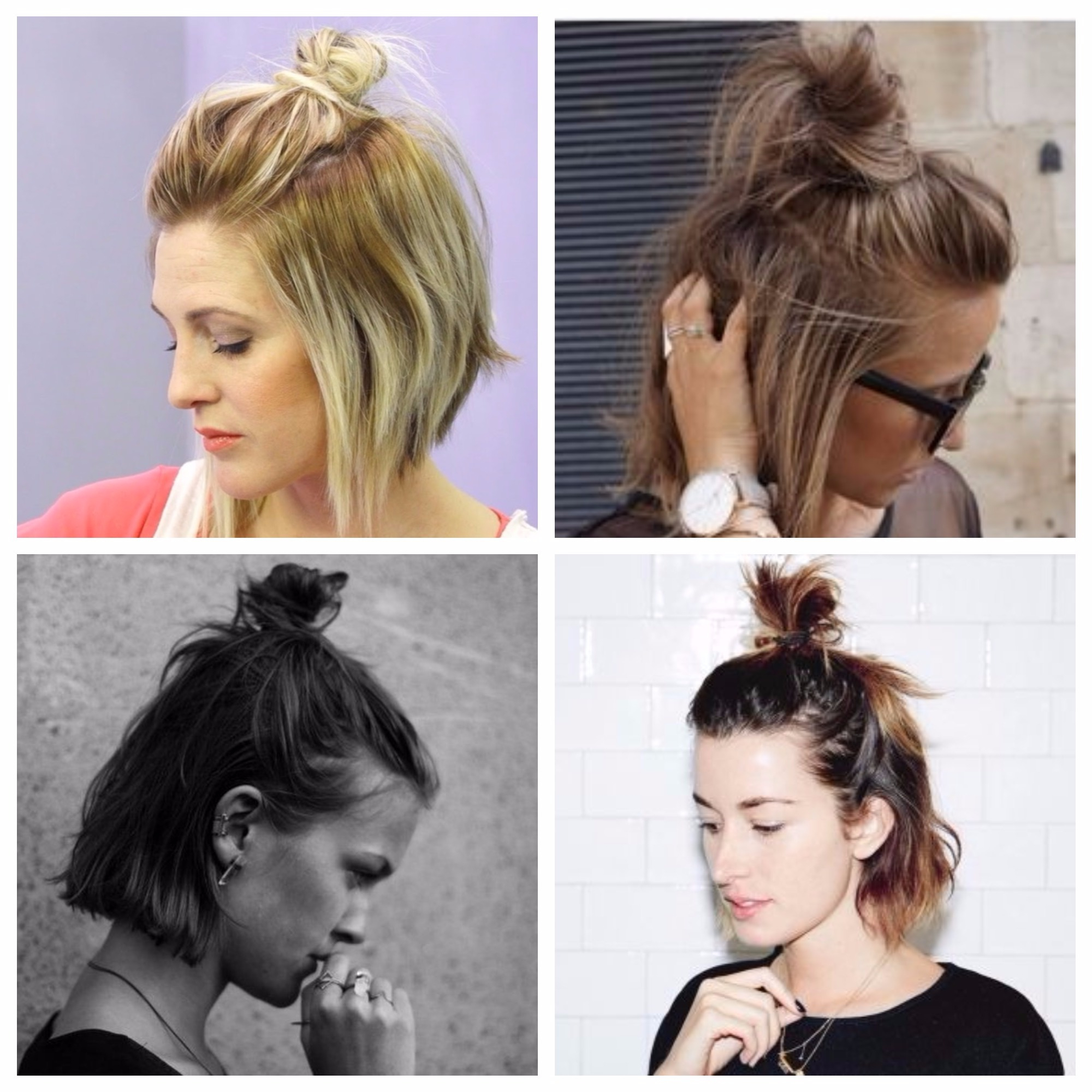 Half Up Top Knot For Every Length – Hair World Magazine Inside Half Long Half Short Haircuts (View 9 of 25)