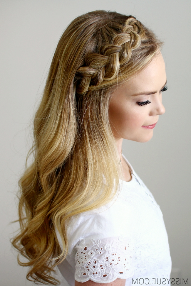 Headband Braid – Style Like Pro Intended For Braided Crown Ponytails For Round Faces (View 23 of 25)