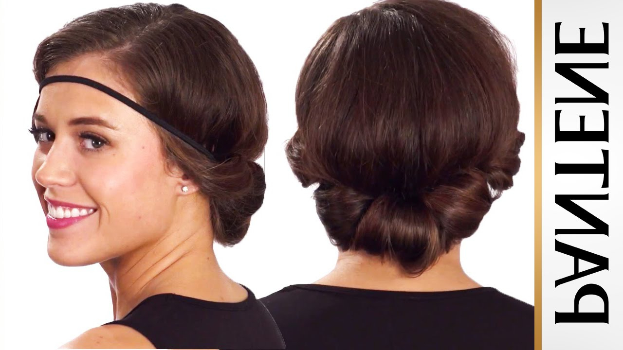 Headband Roll And Tuck Updo: Easy Hairstyles For Short Hair – Youtube Throughout Short Hairstyles With Headbands (View 11 of 25)
