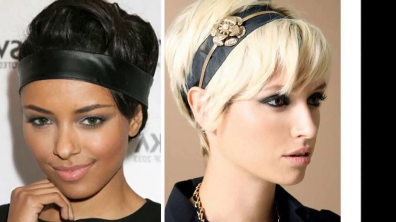Headbands For Short Hair – Cool And Spicy – Youtube Throughout Short Hairstyles With Headbands (View 3 of 25)