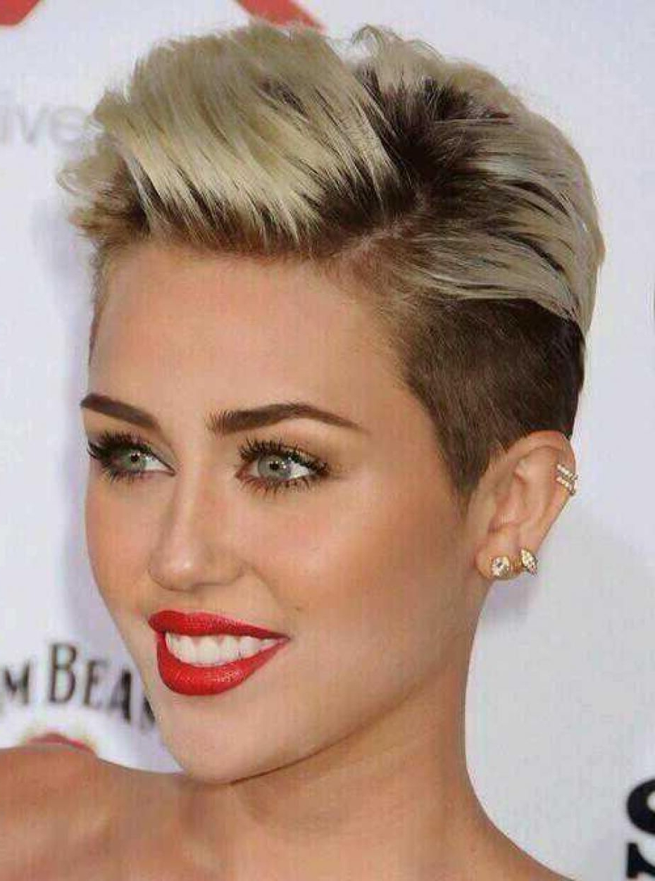 Helix Piercing Miley Cyrus – Google Search   Haircuts In 2018 With Regard To Short Haircuts Like Miley Cyrus (View 18 of 25)
