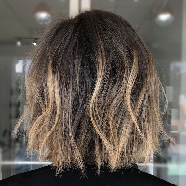 High Contrast Babylights + Textured Bob – Behindthechair Regarding High Contrast Blonde Balayage Bob Hairstyles (View 20 of 25)