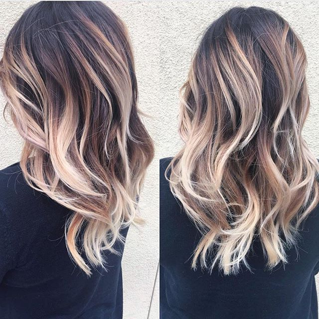 High Contrast Balayage And Yet Sooo Blended!! ??? @ In High Contrast Blonde Balayage Bob Hairstyles (View 5 of 25)