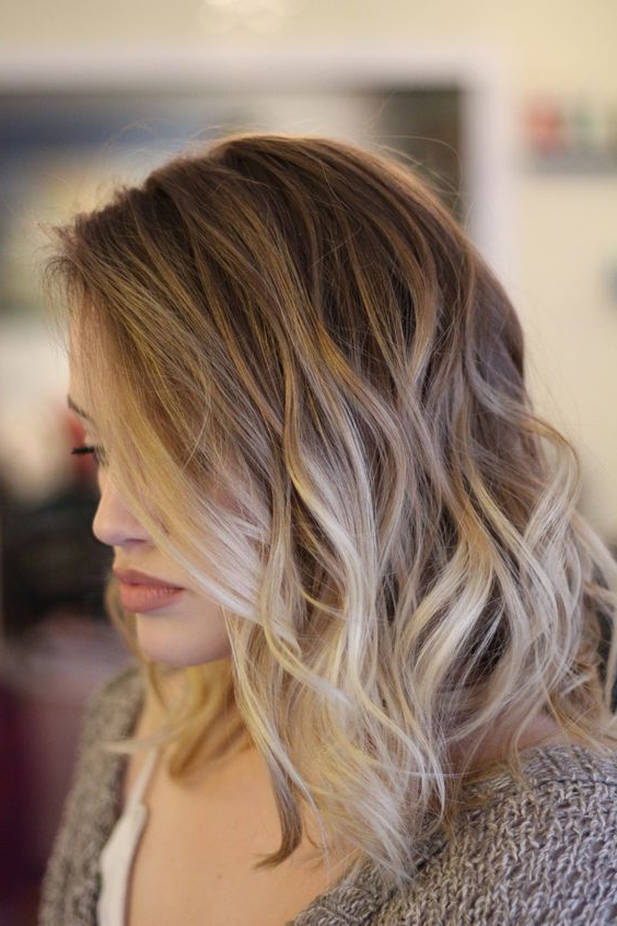 High Contrast Balayage Mid Length Hairstyles | Long Bobs | Pinterest For High Contrast Blonde Balayage Bob Hairstyles (View 14 of 25)