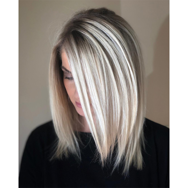High Contrast, Foilayaged Blonde – Behindthechair Intended For High Contrast Blonde Balayage Bob Hairstyles (View 8 of 25)