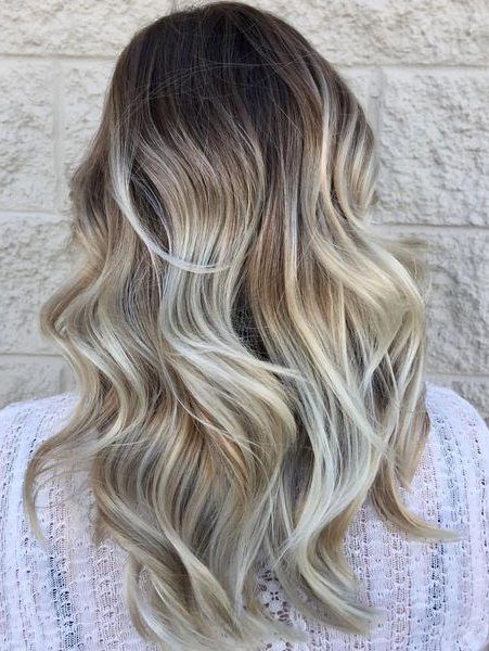 High Contrast Hair Color Blonde Balayage Hairstyles 2018 | Throughout High Contrast Blonde Balayage Bob Hairstyles (View 16 of 25)