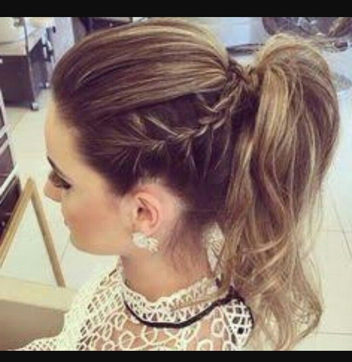 High Ponytail Braid … | Ponytails Hairstyle | Pinte… With Regard To Straight Triple Threat Ponytail Hairstyles (View 7 of 25)