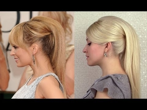 High Ponytail Hairstyles With Extensions 60S Retro Nicole Richie Regarding Twisted Retro Ponytail Updo Hairstyles (View 9 of 25)